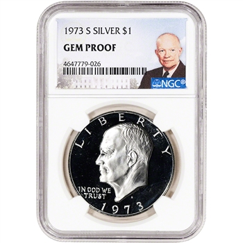 1973-S US Eisenhower Silver Dollar Proof $1 - NGC Gem Proof