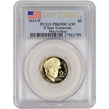2013-W US Gold $5 5-Star Generals Commem Proof - PCGS PR69DCAM - First Strike
