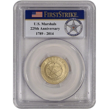 2015-W US Gold $5 Marshals Commemorative BU - PCGS MS69 - First Strike Badge