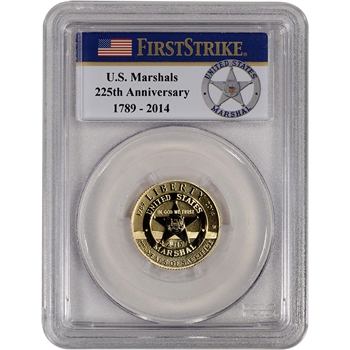 2015-W US Gold $5 Marshals Commemorative Proof PCGS PR69 DCAM First Strike Badge