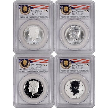 4-pc. 2014 US Kennedy 50th Anniversary Silver 50C Set - PCGS 70 - First Strike