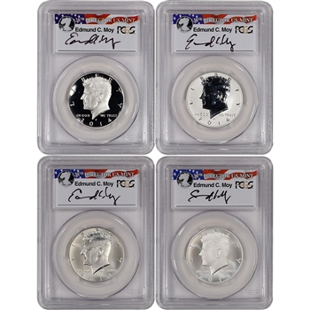 4-pc. 2014 US Kennedy 50th Anniversary Silver 50C Set - PCGS 70 First Strike Moy