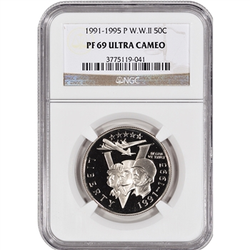 1993-P US World War II Commemorative Proof Half Dollar - NGC PF69