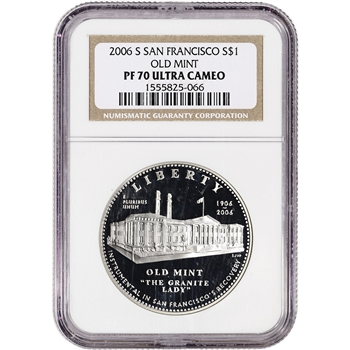 2006-S US San Francisco Old Mint Commemorative Proof Silver Dollar - NGC PF70