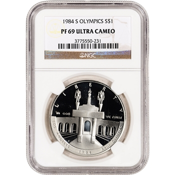 1984-S US Olympic Commemorative Proof Silver Dollar - NGC PF69UCAM