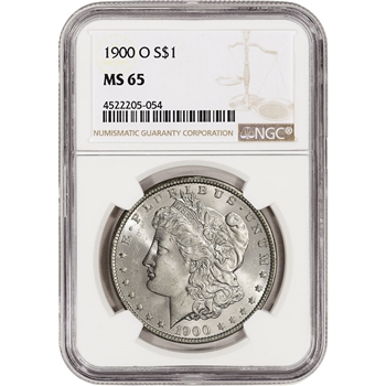 1900-O US Morgan Silver Dollar $1 - NGC MS65