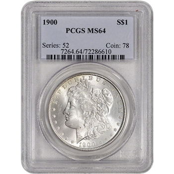 1900 US Morgan Silver Dollar $1 - PCGS MS64