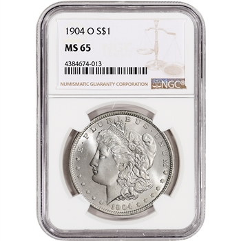1904-O US Morgan Silver Dollar $1 - NGC MS65