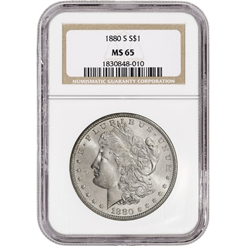 1880-S US Morgan Silver Dollar $1 - NGC MS65