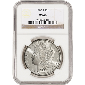 1880-S US Morgan Silver Dollar $1 - NGC MS66