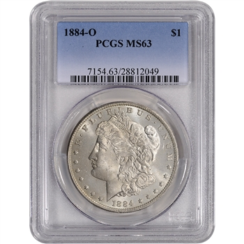1884-O US Morgan Silver Dollar $1 - PCGS MS63