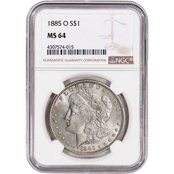 1885-O US Morgan Silver Dollar $1 - NGC MS64