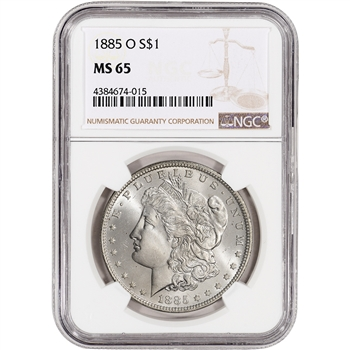 1885-O US Morgan Silver Dollar $1 - NGC MS65