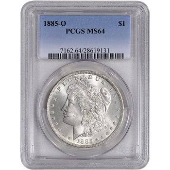 1885-O US Morgan Silver Dollar $1 - PCGS MS64