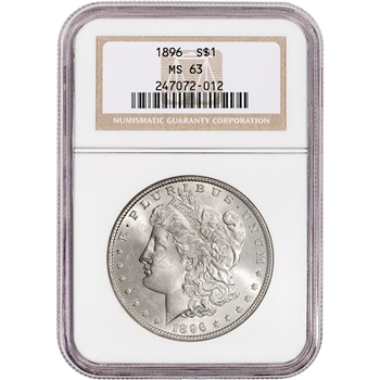 1896 US Morgan Silver Dollar $1 - NGC MS63