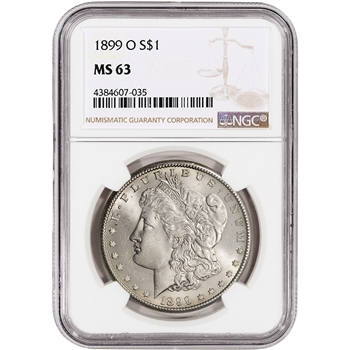 1899-O US Morgan Silver Dollar $1 - NGC MS63