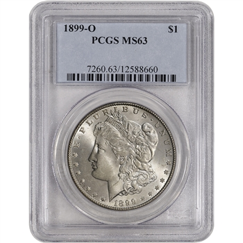 1899-O US Morgan Silver Dollar $1 - PCGS MS63