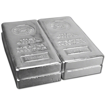 FOUR (4) 100 oz. RCM Silver Bar - Royal Canadian Mint .9999 Fine