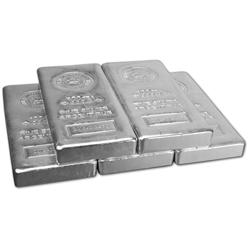 FIVE (5) 100 oz. RCM Silver Bar - Royal Canadian Mint .9999 Fine