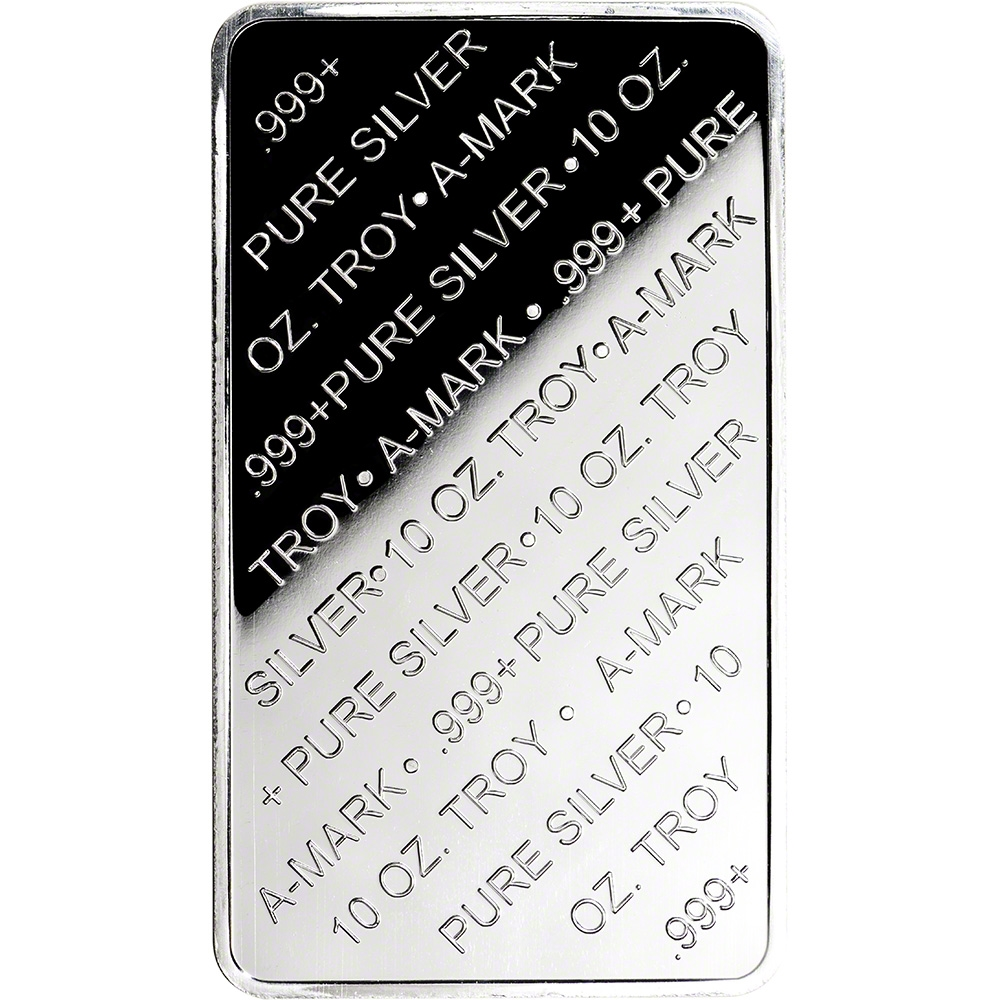 Five 5 10 Oz Silver Bar A Mark 999 Pure Silver Amark
