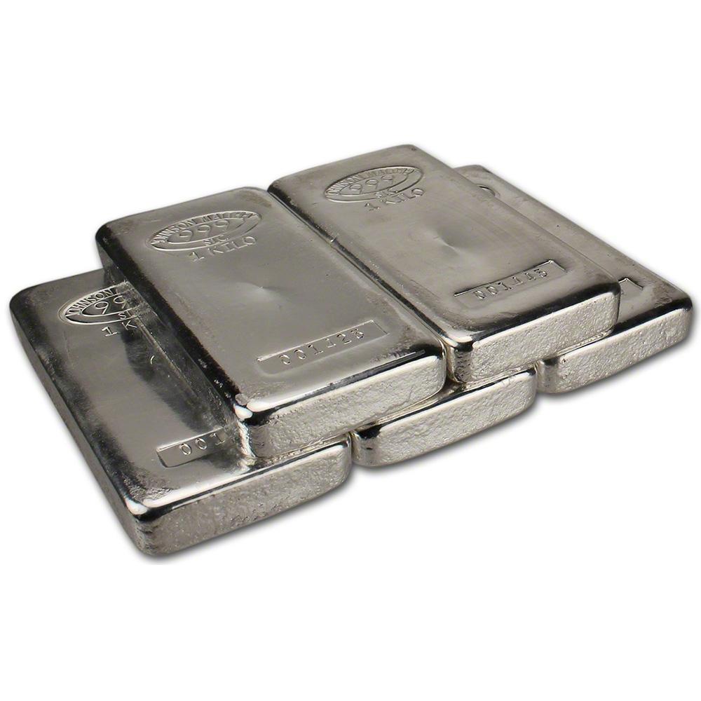 Five 5 Kilo 32 15 Oz Jm Silver Bar Johnson Matthey