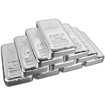 TEN (10) Kilo (32.15 oz.) RMC Silver Bar - Republic Metals Corp (Pour) .999+