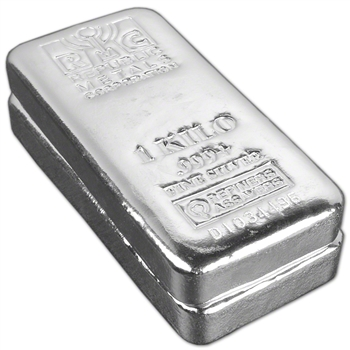 TWO (2) Kilo (32.15 oz.) RMC Silver Bar - Republic Metals Corp (Pour) .999+