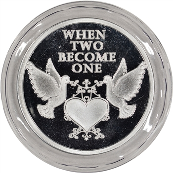 2015 Silver 1 oz. Medallion - Wedding - When Two Become One
