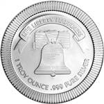 1 oz. Silver Round - A-Mark Liberty Bell Stackable .999