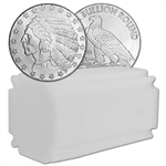 1 oz. Highland Mint Silver Round Incuse Indian Design .999 Lot, Roll, Tube of 20