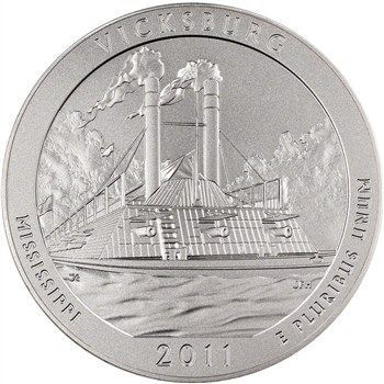 2011-P US America the Beautiful Five Ounce Silver Uncirculated Coin - Vicksburg