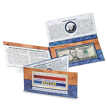 "2012 US ""Making American History"" Coin & Currency Set"