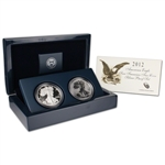 2-pc. 2012-S American Silver Eagle 75th Anniversary Proof Set