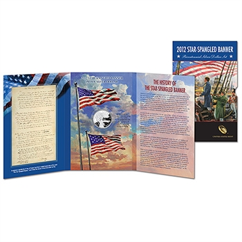 2012 US Mint Star-Spangled Banner Bicentennial Silver Dollar Set