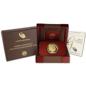 2014-W American Gold Buffalo Proof (1 oz) $50