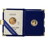 1991-P American Gold Eagle Proof (1/10 oz) $5 in OGP