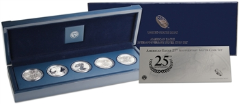 2011 American Silver Eagle 25th Anniversary 5-Coin Set