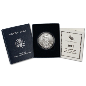 2012-W American Silver Eagle Uncirculated Collectors Burnished Coin