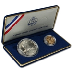 1987 US Constitution 2-Coin Commemorative BU Set
