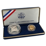 1987 US Constitution 2-Coin Commemorative Set