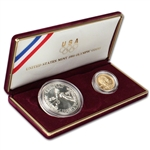 1988 US Olympic 2-Coin Commemorative BU Set
