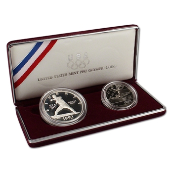 1992 US Olympic 2-Coin Commemorative Proof Set