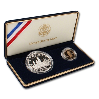 1996 US Smithsonian Institution 2-Coin Commemorative Proof Set