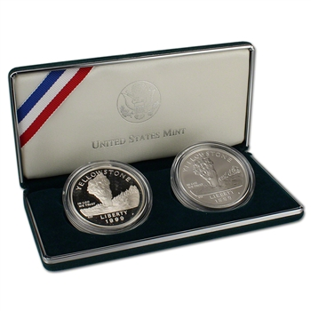 1999 US Yellowstone National Park 2-Coin Commemorative Set