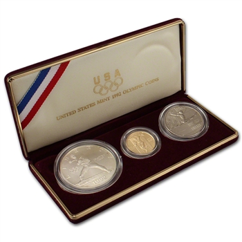 1992 US Olympic 3-Coin Commemorative BU Set