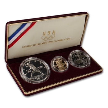 1992 US Olympic 3-Coin Commemorative Proof Set
