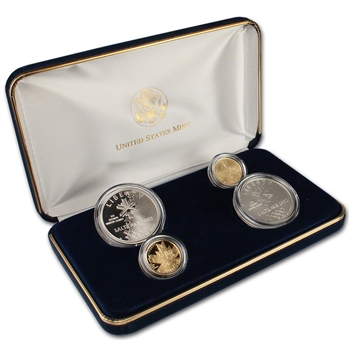 2002 US Olympic Winter Games 4-Coin Commemorative Set