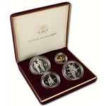 1995 US Olympic Games 4-Coin Commemorative Proof Set - Torch Runner