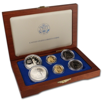 1986 US Statue of Liberty 6-Coin Commemorative Set