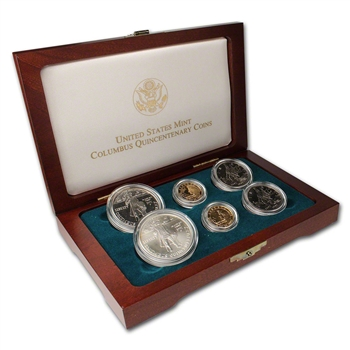 1992 US Columbus Quincentenary 6-Coin Commemorative Set
